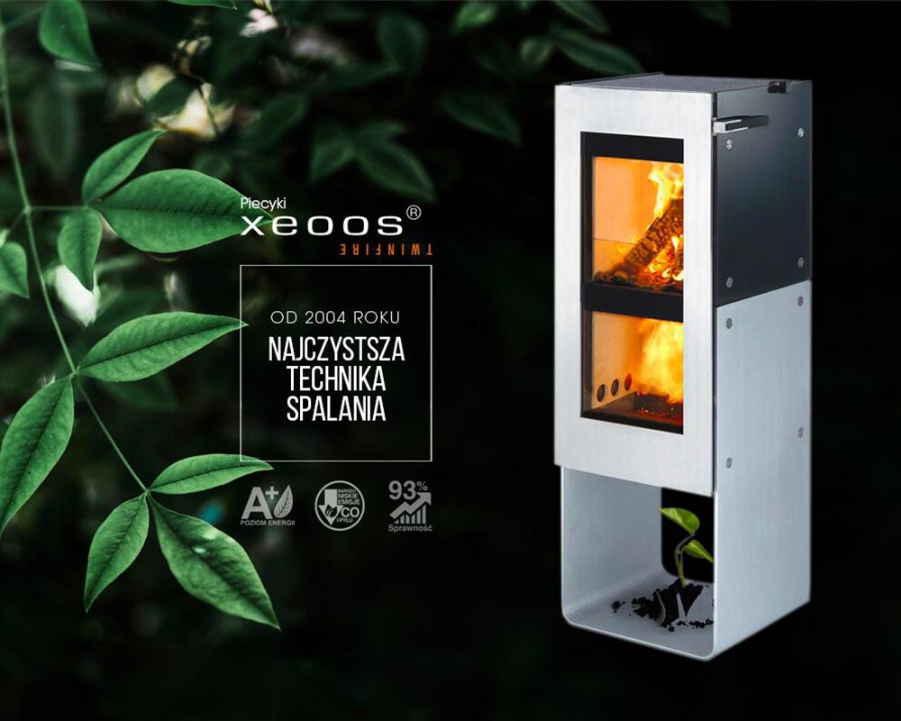 Ekologiczny kominek wolnostojący Xeoos